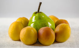 Pear apricot Royalty Free Stock Images
