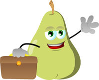 Pear as businessman Stock Photography