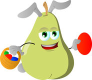 Pear as Easter bunny Royalty Free Stock Image