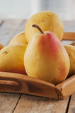 Pear autumn harvest Royalty Free Stock Photo
