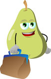 Pear with bag Stock Images