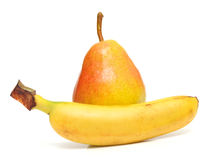 Pear and banana Stock Photo