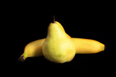 Pear and banana Royalty Free Stock Image