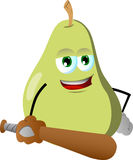 Pear baseball batter Stock Photo