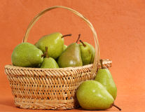Pear basket Royalty Free Stock Photography