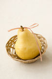 Pear in Basket Stock Photo