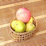 Pear in basket Royalty Free Stock Photo