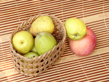 Pear in basket Stock Photography