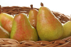 Pear basket Royalty Free Stock Images