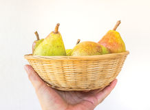 Pear Basket Stock Photos