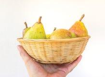 Pear Basket Stock Photos