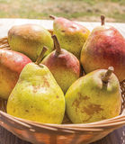 Pear Basket Stock Photo