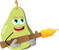 Pear with bazooka Stock Images