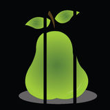Pear. Big pear with shadow effect on black background Royalty Free Stock Image