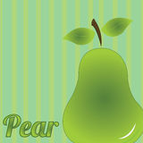 Pear. Big pear on special green background Stock Photography