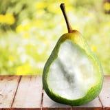 Pear bite. Evolution Change Fruit Missing Bite Image Sequence Progress Stock Images