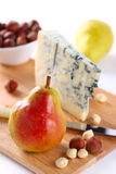 Pear, blue cheese and walnuts Royalty Free Stock Photography