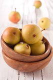 Pear in the bowl Stock Image