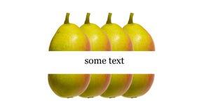 Pear box label Stock Photo