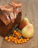 Pear-buckthorn jam Stock Photo