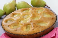 Pear cake. Still image of pear cake royalty free stock image
