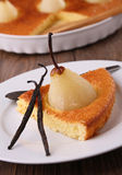 Pear cake Stock Images