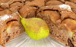 Pear cake Royalty Free Stock Image