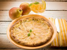 Pear cake with marmalade Stock Photography