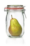 Pear in a canning jar Royalty Free Stock Photography