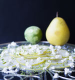 Pear carpaccio Stock Image