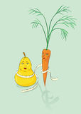 Pear and carrot Stock Images