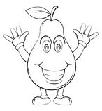 Pear Cartoon Royalty Free Stock Images