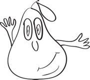 Pear cartoon sketch Stock Photo