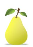 Pear cartoon. Vector illustration of pear with leaf on white background Royalty Free Stock Photography