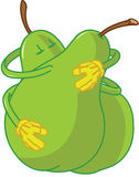 Pear Cartoons Embracing And Kissing Stock Images