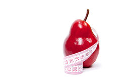 Pear and a centimeter Stock Photo