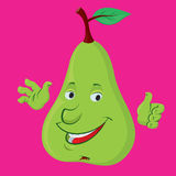 Pear character Royalty Free Stock Photo