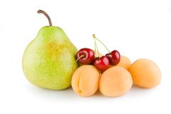 Pear cherry Apricot Stock Photography