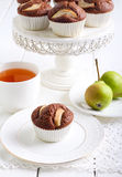 Pear and chocolate cakes Royalty Free Stock Photo