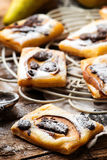Pear Chocolate Cream Cheese Danishes. Royalty Free Stock Photos
