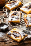 Pear Chocolate Cream Cheese Danishes. Stock Image