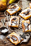 Pear Chocolate Cream Cheese Danishes. Stock Images