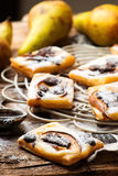 Pear Chocolate Cream Cheese Danishes. Royalty Free Stock Image