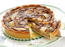 Pear and Chocolate tart Stock Photo