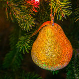 Pear Christmas Decoration Stock Photo