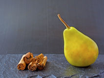 Pear and cinnamon Stock Photo
