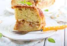 Pear and cinnamon cake Stock Photography