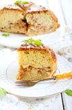 Pear and cinnamon cake Royalty Free Stock Images