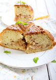 Pear and cinnamon cake Royalty Free Stock Image