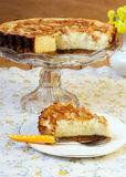 Pear, cinnamon cheesecake Royalty Free Stock Photography